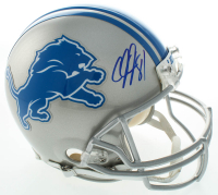 Calvin Johnson Signed Lions Full-Size Authentic On-Field Helmet (Radtke COA) at PristineAuction.com