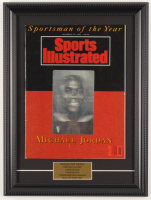 "Michael Jordan ""Sportsman of the Year"" 11.5x15.5 Custom Framed Magazine Display at PristineAuction.com"