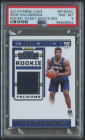 Zion Williamson 2019-20 Panini Contenders Rookie Ticket Swatches #RTSZWL (PSA 8) at PristineAuction.com