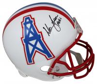 "Warren Moon Signed Oilers Full-Size Helmet Inscribed ""HOF 06"" (Beckett COA) at PristineAuction.com"
