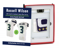 RUSSELL WILSON 2015 SEATTLE SEAHAWKS GAME WORN JERSEY MYSTERY SWATCH BOX! at PristineAuction.com