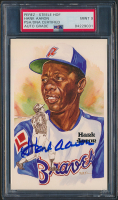 Hank Aaron Signed LE 1980-02 Perez-Steele Hall of Fame Postcards #177 (PSA Encapsulated) at PristineAuction.com