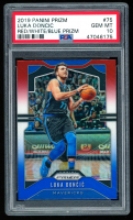 Luka Doncic 2019-20 Panini Prizm Prizms Red White and Blue #75 (PSA 10) at PristineAuction.com