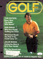 "Tom Watson Signed ""Golf"" Magazine Cover Page (JSA COA) at PristineAuction.com"
