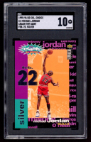 Michael Jordan 1995-96 Collector's Choice Crash the Game Assists / Rebounds #C1 (SGC 10) at PristineAuction.com