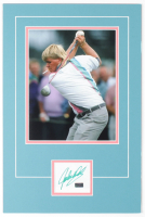 John Daly Signed 12x18 Custom Matted Cut Display with Photo (Palm Beach COA) at PristineAuction.com