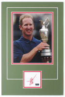 David Duval Signed 12x18 Custom Matted Cut Display with Photo (Palm Beach COA) at PristineAuction.com