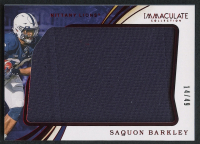 Saquon Barkley 2020 Immaculate Collection Collegiate Red #45 Jersey - #14/49 at PristineAuction.com