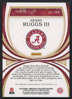 Henry Ruggs III 2020 Immaculate Collection Collegiate Green #108 Autograph RC - #1/5 at PristineAuction.com