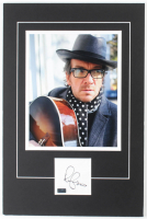 Elvis Costello Signed 12x18 Custom Matted Cut Display with Photo (Palm Beach COA) at PristineAuction.com