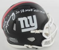 "Eli Manning Signed Giants Matte Black Speed Mini Helmet Inscribed ""2x SB MVP XLII - XLVI"" (Fanatics Hologram) at PristineAuction.com"
