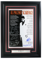 """Scarface"" 16x23 Custom Framed Movie Poster Display Cast-Signed by (11) with Al Pacino, Steven Bauer, Miriam Colon, Robert Loggia, Caesar Cordova (PSA LOA) at PristineAuction.com"