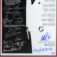 """""""Scarface"""" 16x23 Custom Framed Movie Poster Display Cast-Signed by (11) with Al Pacino, Steven Bauer, Miriam Colon, Robert Loggia, Caesar Cordova (PSA LOA) at PristineAuction.com"""
