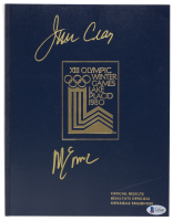 Jim Craig & Mike Eruzione Signed 1980 Olympic Games Official Results Book (Beckett COA) at PristineAuction.com