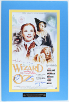 """Wizard of Oz"" 20x30 Custom Matted Movie Poster Display Signed by (8) with Jerry Maren, Mickey Carroll, Karl Slover, Ruth Duccini (JSA COA) at PristineAuction.com"