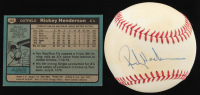 Lot of (2) Rickey Henderson baseball items with Rickey Henderson Signed OAL Baseball (JSA COA) & Rickey Henderson 1980 Topps #482 RC at PristineAuction.com
