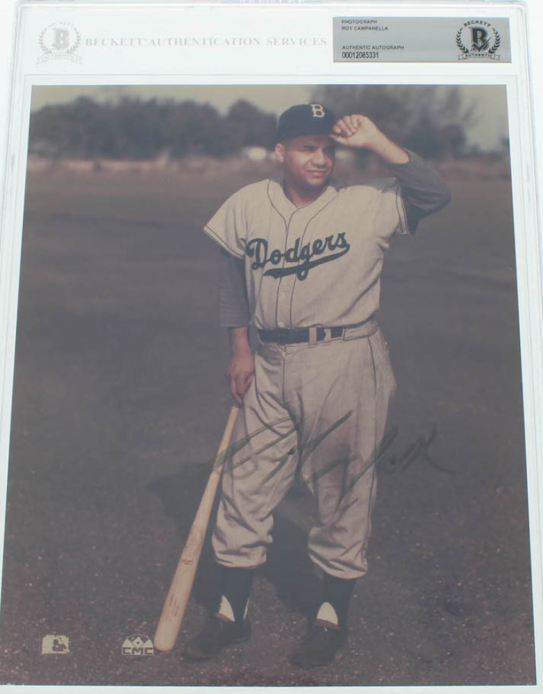 Roy Campanella Signed Dodgers 8x10 Photo (BGS Encapsulated) at PristineAuction.com