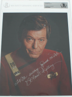 "DeForest Kelley Signed ""Star Trek"" 8x10 Photo Inscribed ""With Every Good Wish"" (BGS Encapsulated) at PristineAuction.com"