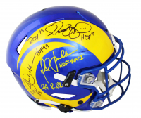 Eric Dickerson, Marshall Faulk, & Jerome Bettis Signed Rams Full-Size Authentic On-Field SpeedFlex Helmet with (6) Inscriptions (Beckett COA) at PristineAuction.com