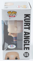 "Kurt Angle Signed WWE #55 Funko Pop! Vinyl Figure Inscribed ""WWE HOF '17"" (PSA Hologram) at PristineAuction.com"