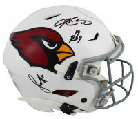 "Larry Fitzgerald & Kyler Murray Signed Cardinals Full-Size Authentic On-Field SpeedFlex Helmet Inscribed ""19 ROY"" (Beckett COA) at PristineAuction.com"