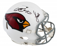 Larry Fitzgerald & Kyler Murray Signed Cardinals Full-Size Authentic On-Field Speed Helmet (Beckett COA) at PristineAuction.com