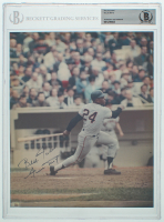 """Willie Mays Signed Giants 8x10 Photo Inscribed """"Best Wishes"""" (BGS Encapsulated) at PristineAuction.com"""
