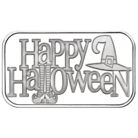 1 Troy oz .999 Silver Happy Halloween Witch Bullion Bar at PristineAuction.com