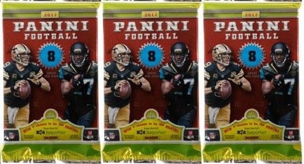 Lot of (3) 2017 Panini Football Blaster Packs with (8) Cards Per Pack at PristineAuction.com