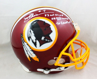 "Joe Theismann Signed Redskins Full-Size Authentic On-Field Helmet Inscribed ""SB XVII Champs"", ""1983 NFL MVP"" & ""70 Greatest Redskins"" (JSA COA) at PristineAuction.com"