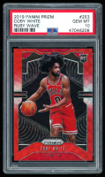 Coby White 2019-20 Panini Prizm Prizms Ruby Wave #253 RC (PSA 10) at PristineAuction.com