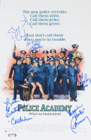 """Police Academy"" 11x17 Photo Cast-Signed by (5) with G. W. Bailey, Leslie Easterbrook, Steve Guttenberg, Marion Ramsey & Michael Winslow (PSA Hologram) at PristineAuction.com"