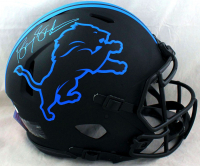 Barry Sanders Signed Lions Full-Size Authentic On-Field Eclipse Alternate Speed Helmet (JSA COA) at PristineAuction.com