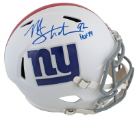 "Michael Strahan Signed Giants Matte White Speed Full-Size Helmet Inscribed ""HOF 14"" (Beckett COA) at PristineAuction.com"