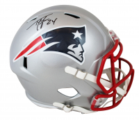 Ty Law Signed Patriots Full-Size Speed Helmet (Beckett COA) at PristineAuction.com