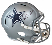 "Michael ""Playmaker"" Irvin Signed Cowboys Full-Size Speed Helmet (Beckett COA & Prova COA) at PristineAuction.com"