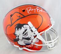 Barry Sanders Signed Oklahoma State Cowboys Full-Size Chrome Helmet (JSA COA) at PristineAuction.com