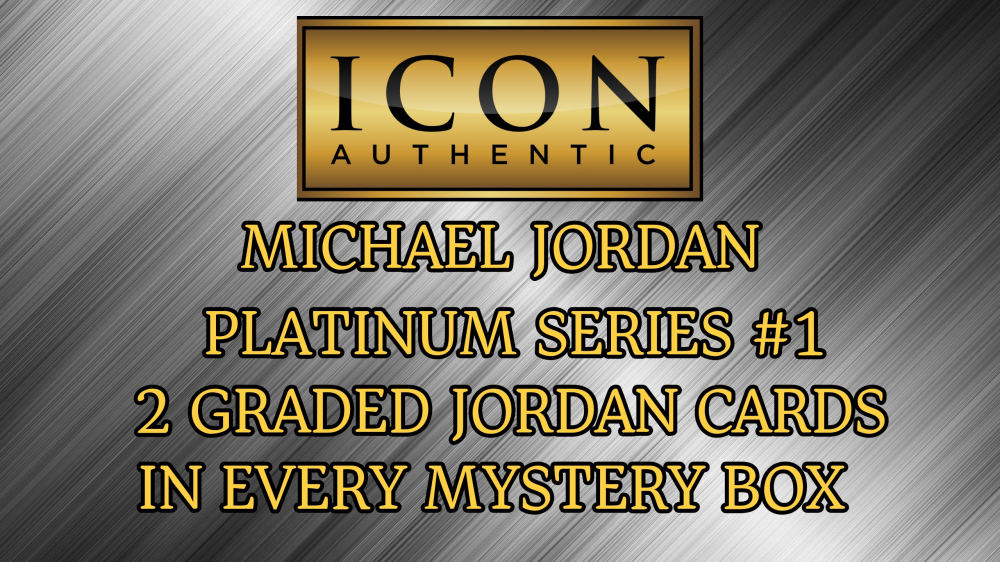 Icon Authentic Michael Jordan Platinum Series #1 - 2 Graded Michael Jordan Cards per box! at PristineAuction.com