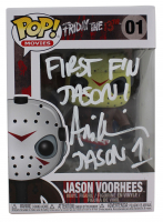 "Ari Lehman Signed ""Friday the 13th"" - Jason Voorhees #01 Funko Pop! Vinyl Figure Inscribed ""First F'N Jason"" & ""Jason 1"" (Beckett COA) at PristineAuction.com"