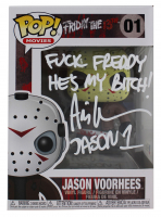 "Ari Lehman Signed ""Friday the 13th"" - Jason Voorhees #01 Funko Pop! Vinyl Figure Inscribed ""F*** Jason He's My B****"" & ""Jason 1"" (Beckett COA) at PristineAuction.com"