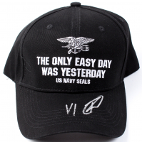 "Rob O'Neill Signed ""The Only Easy Day Was Yesterday"" Navy Seals Adjustable Hat Inscribed ""VI"" (PSA COA) at PristineAuction.com"
