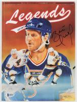 Brett Hull Signed Vintage 1991 Legends Sports Memorabilia Magazine (Beckett COA) at PristineAuction.com
