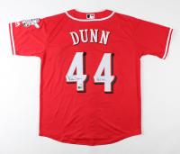 "Adam Dunn Signed Reds Jersey Inscribed ""462 HR's"" (PSA COA & Tristar Hologram) at PristineAuction.com"
