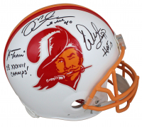 """Warren Sapp & Mike Alstott Signed Buccaneers Throwback Authentic On-Field Full-Size Helmet Inscribed """"A-Train"""", """"SB XXXVII Champs!"""", & """"HOF 13"""" (Beckett COA) at PristineAuction.com"""