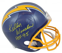 "Kellen Winslow Signed Chargers Full-Size Helmet Inscribed ""HOF 95"" (Beckett COA) at PristineAuction.com"