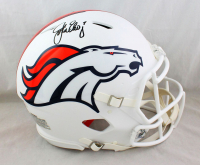 John Elway Signed Broncos Full-Size Authentic On-Field Matte White Speed Helmet (Beckett COA) at PristineAuction.com