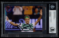 Roger Federer Signed 2.5x3.5 Photo (BGS Encapsulated) at PristineAuction.com