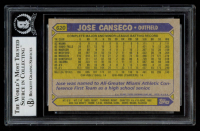 Jose Canseco Signed 1987 Topps #620 RC (BGS Encapsulated) at PristineAuction.com