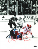 """Darren McCarty Signed Red Wings 11x14 Photo Inscribed """"Fight Night at the Joe 3/26/98"""" (Playball Ink Hologram) at PristineAuction.com"""
