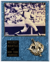 Mickey Mantle Yankees 12x15 Plaque Photo Display at PristineAuction.com